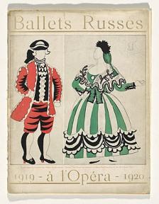 Diseños y vestuario de Le Tricorne. 1919-1920.